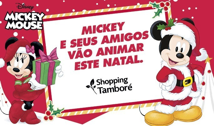 Natal do Mickey e seus amigos- Shopping Tamboré